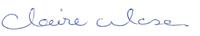 Claire's signature